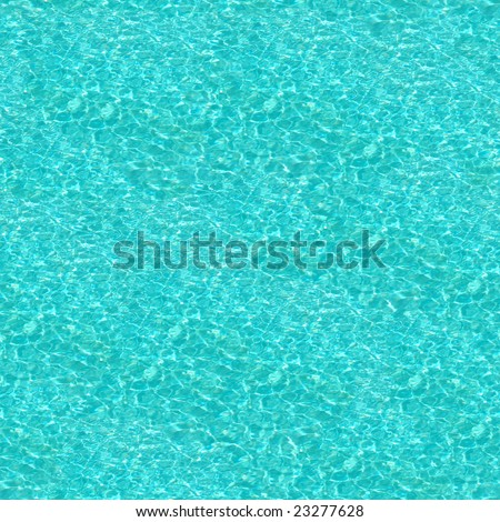 Crystal Blue Swimming Pool Water Seamless Pattern - this image can be composed like tiles endlessly without visible lines between parts