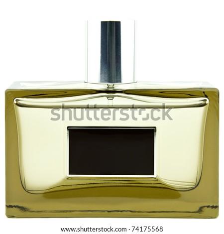crystal bottle isolated on white - stock photo