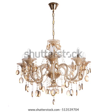 crystal chandelier isolated