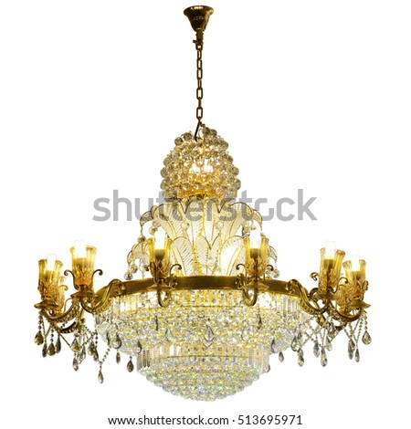 crystal chandelier isolated on white background