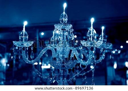 crystal chandelier with five candles