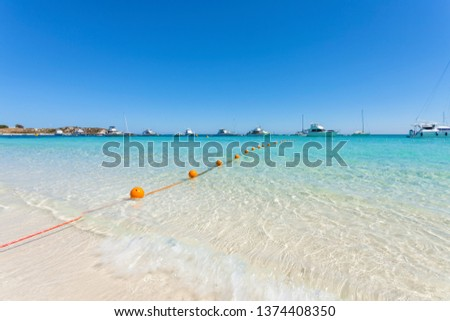 Stock Photo Crystal clear turquoise water at Rottnest Island, Perth, Western Australia.