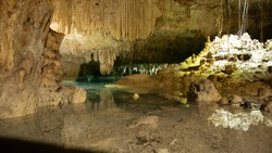 Crystal clear water cavern, inside the heart of the Mayan Riviera