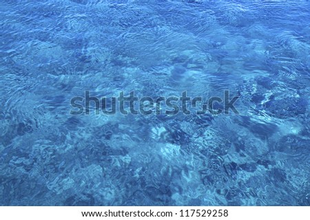 Crystal clear water in the eastern Mediterranean in Crete
