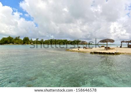 Crystal clear waters of tropical Bora Bora in Bora Bora, French Polynesia