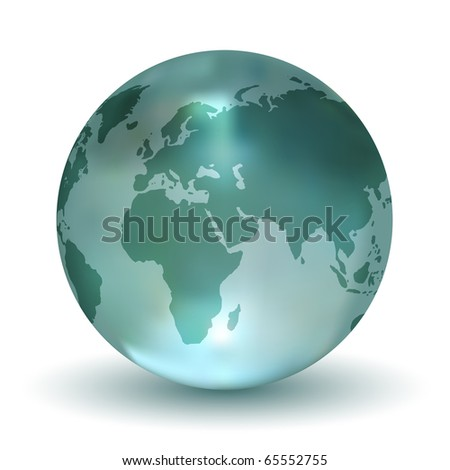 Crystal Earth Globe