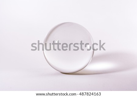Crystal Glass Sphere Ball Transparent White Simple Object Background Light #487824163