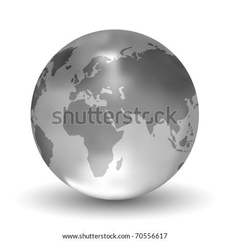 Crystal Globe - stock photo