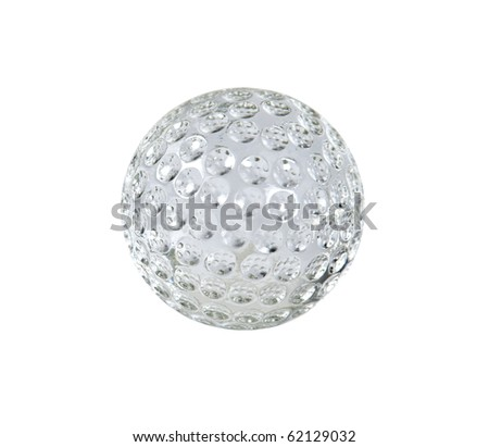 Crystal Golf with dimples that reflect the light - Path included