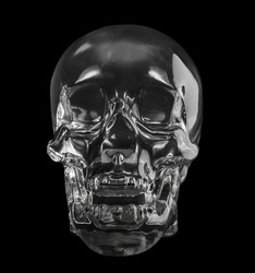 crystal head skull  isolated dicut with clipping path