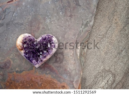 Crystal Heart Amethyst. This healer stone is violet quartz that contains iron and trace minerals. The angel frequency sacred geometry aligns the Third Eye, Crown and Etheric Chakras.