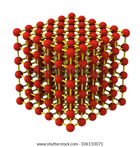 Crystal lattice structure 3d