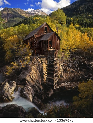 Crystal Mill in the White River National Forest, Colorado.