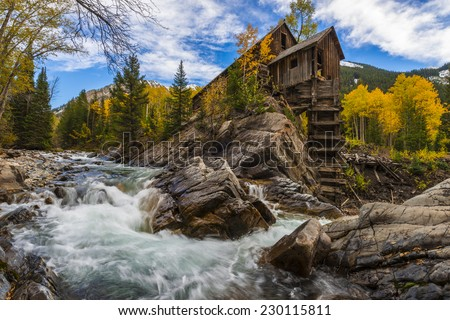 Crystal Mill Wooden Powerhouse located on Crystal River Colorado