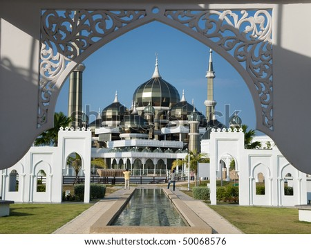 Crystal Mosque or Masjid Kristal in Kuala Terengganu Terengganu Malaysia Asia
