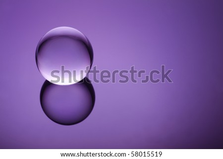 Crystal orb on a purple gradient