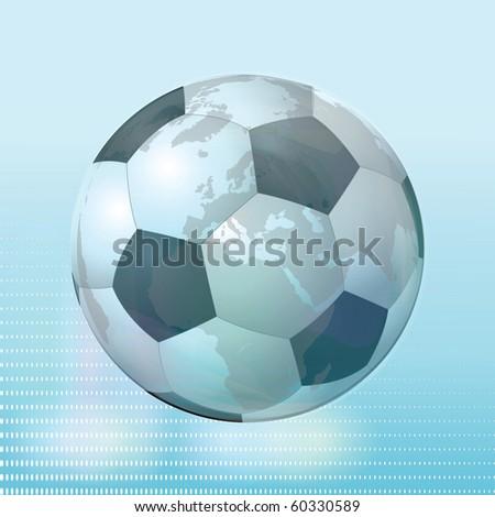 Crystal Soccer Ball Illustration Clip Art