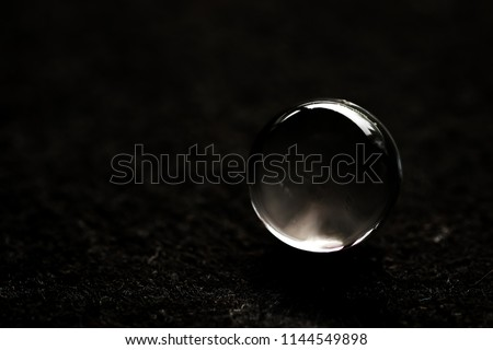 crystal sphere on black background #1144549898