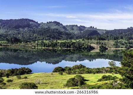 Crystal Springs Reservoir, San Mateo County, California