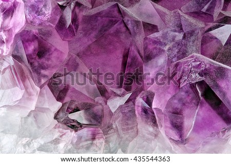Crystal Stone macro mineral, purple rough amethyst quartz crystals