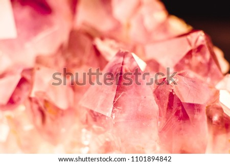 Crystal Stone macro mineral surface, purple rough amethyst quartz crystals #1101894842