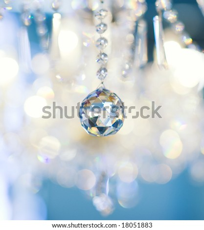 Crystal vintage lamp detail (shallow DoF)