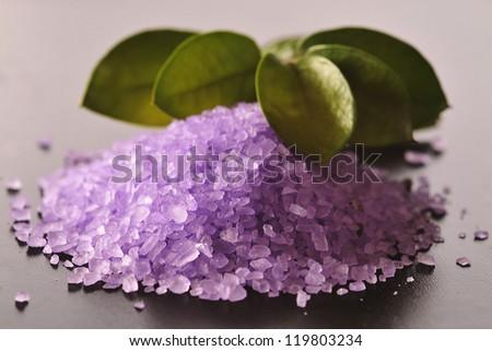 Crystals of salt in spa