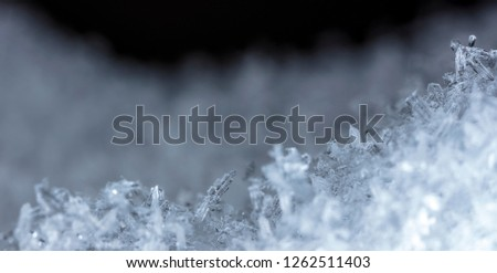 crystals of snow, ice #1262511403