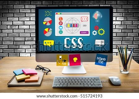 CSS Web Online Technology Web Design css cascading style sheet programming language css script code Zdjęcia stock ©