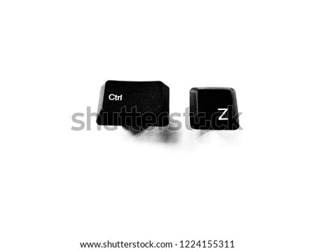 ctrl z for undo shortcut key keyboard button isolated on white background #1224155311