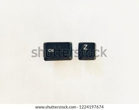 ctrl z shortcut keys for undo illustration keyboard button #1224197674