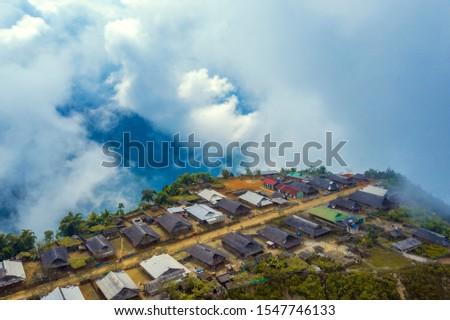 Cu Vai village, Yen Bai, Viet Nam Zdjęcia stock ©