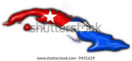 cuba button flag map shape stock photo 9431629   shutterstock