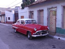Cuba car old amerikan automobil 60s red