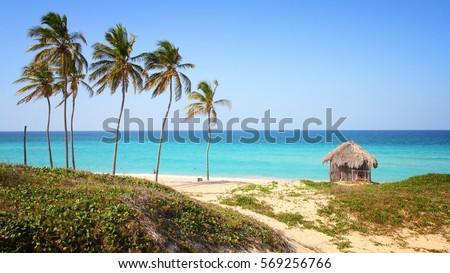 Shutterstock Cuba - Caribbean beach Playa Megano in Playas del Este part of Havana Province. Sandy coast.