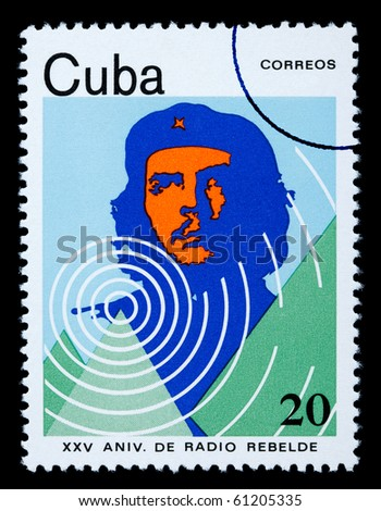 CUBA - CIRCA 1980: A postage stamp printed in Cuba showing Che Guevara, circa 1980