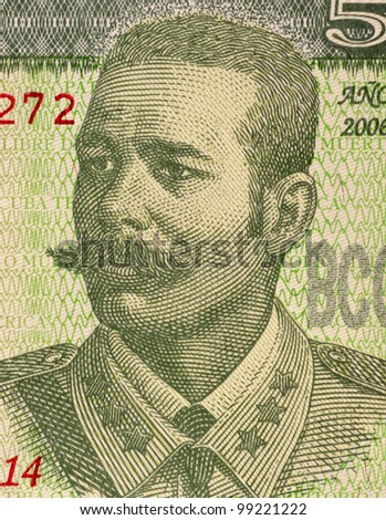CUBA - CIRCA 2006: Antonio Maceo Grajales (1845-1896) on 5 Pesos 2006 Banknote from Cuba. Second in command of the Cuban Army of Independence.
