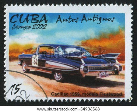 CUBA - CIRCA 2002: stamp printed by Cuba,  shows retro car, circa 2002.