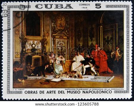 cuba   circa 1969  stamp...