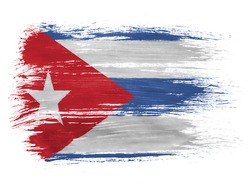 Cuba. Cuban flag  on white background