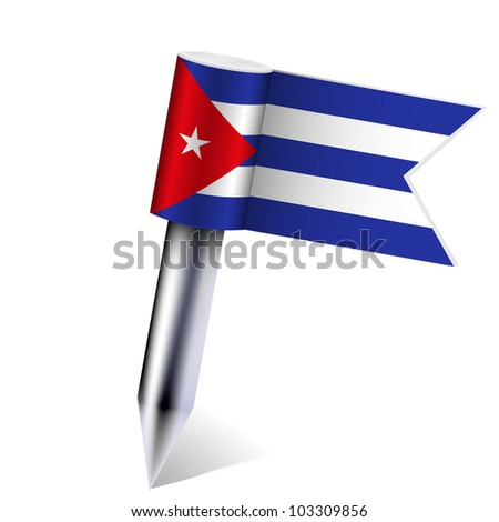 Cuba flag isolated on white