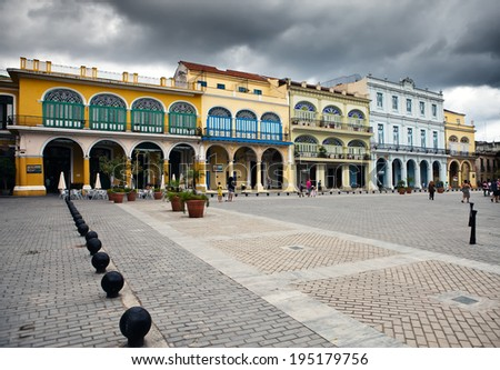 cuba. streets of old havana.