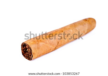 cuban cigar isolated on a white background
