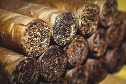 Cuban Cigars Background.