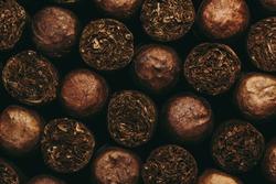 Cuban Cigars, Close up.