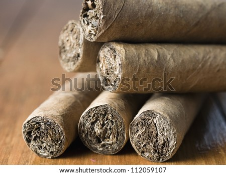 Cuban cigars closeup