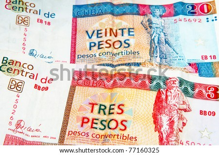 Cuban convertible pesos, is one of two official currencies in Cuba.