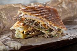 Cuban sandwich with pulled pork