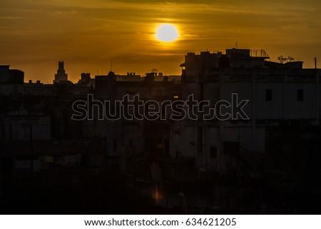 Cuban sunrise, Havana, Cuba #634621205