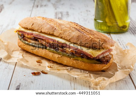 Shutterstock Cubanito. Traditional Cuban Sandwich with Ham, Pork and Cheese